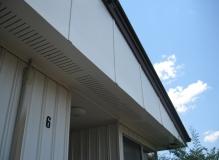 Asbestos Cement sheet to a gable wall