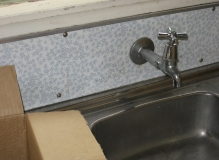 Asbestos Cement sink splash panel