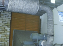 Asbestos Rope insulation to Genset exhaust