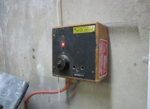 Asbestos based resin (black) switch backing panel