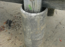 Asbestos cement pipe jetty pylon
