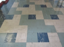 Asbestos containing vinyl floor tiles