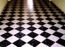 Asbestos containing vinyl tiles