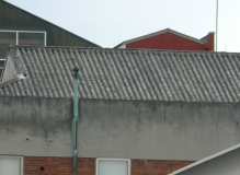 Corrugated Asbestos cement roof sheeting& ridge capping