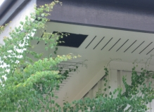 Damaged ac sheet slotted eaves