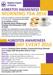Asbestos Awareness Day 2016 photo