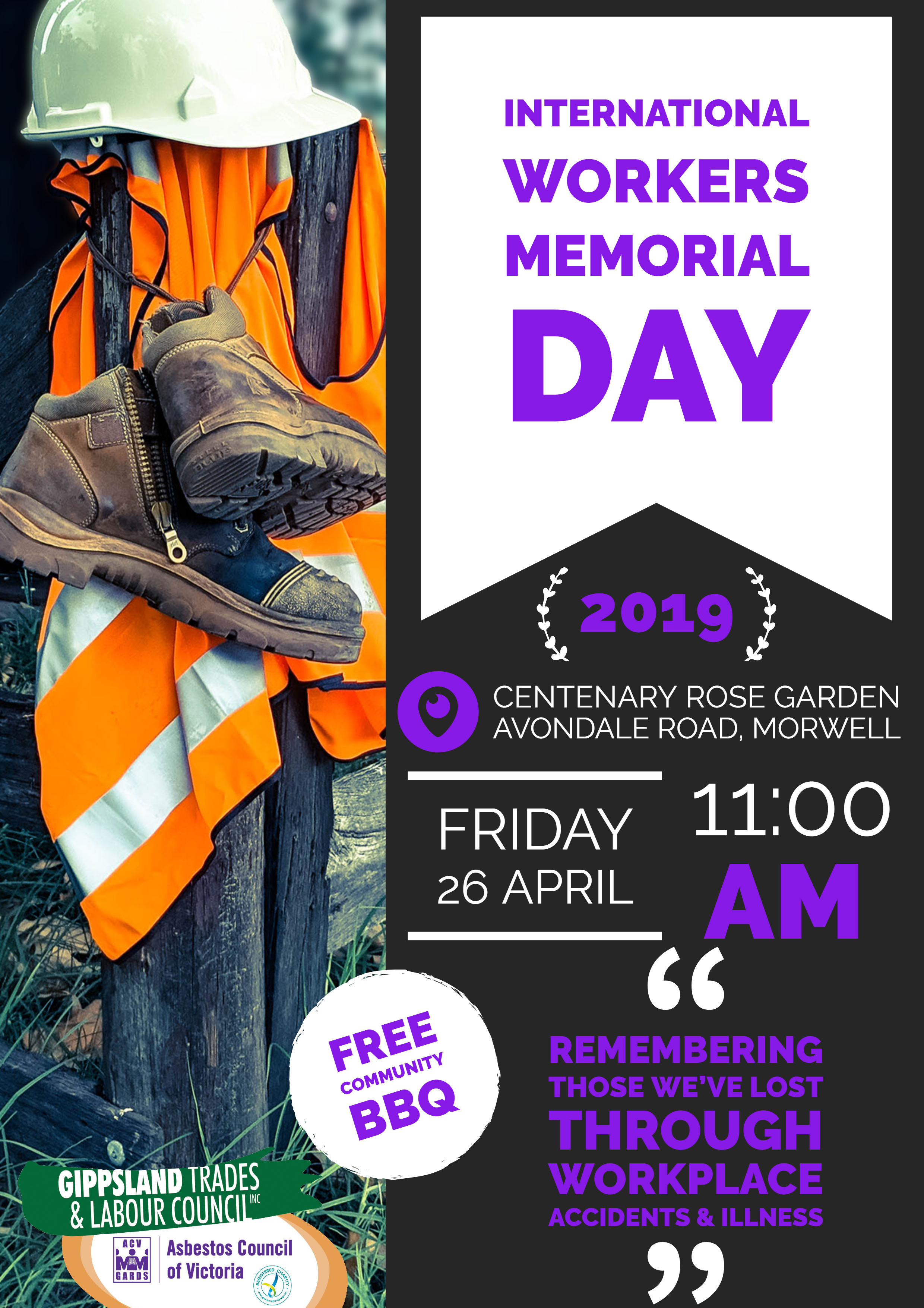 Come And Join Us For International Workers Memorial Day 26th April