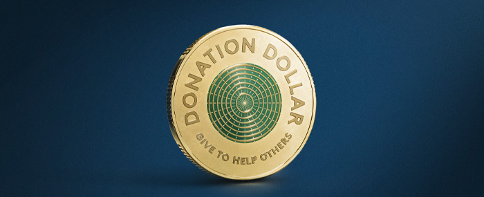 Picture of the new Donation Dollar