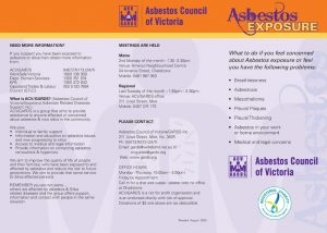 Asbestos exposure 3 fold brochure image