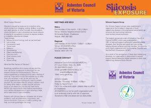Silicosis exposure 3 fold brochure image